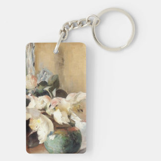 Christmas Roses in a Corner Keychain