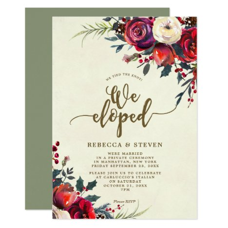 eloped invitation