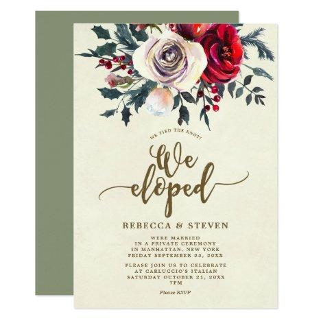 eloped invitation