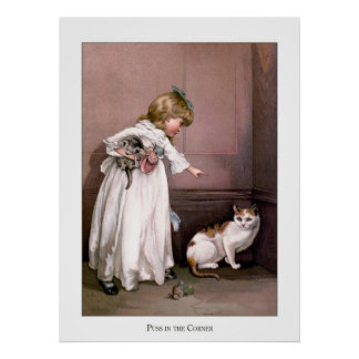 Christmas Roses: Puss in the Corner Poster