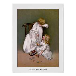 Christmas Roses: Putting Away the Toys Print