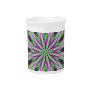 Christmas Rosettes in Purple, Green and Black Beverage Pitchers