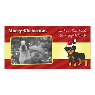 Christmas Rottweiler Card