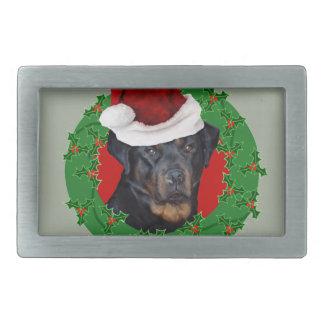 Christmas Rottweiler dog Belt Buckle