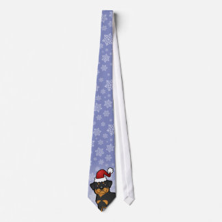 Christmas Rottweiler Neck Tie