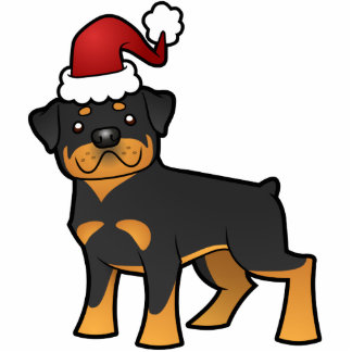 Christmas Rottweiler Ornament