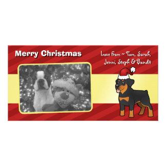 Christmas Rottweiler Photo Card