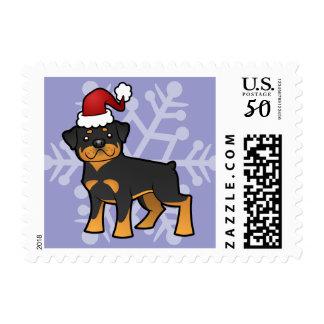 Christmas Rottweiler Postage