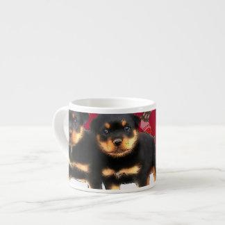 Christmas Rottweiler puppies Espresso Mugs