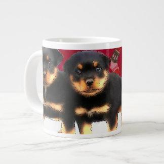 Christmas Rottweiler puppies Large Coffee Mug