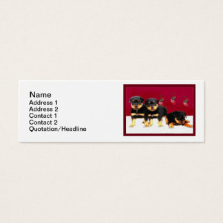 Christmas Rottweiler puppies Mini Business Card