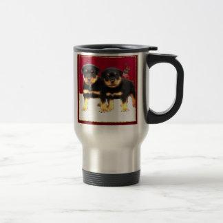 Christmas Rottweiler puppies Travel Mug