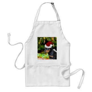 Christmas Rottweiler puppy Adult Apron