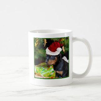 Christmas Rottweiler puppy Coffee Mug