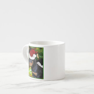 Christmas Rottweiler puppy Espresso Cup
