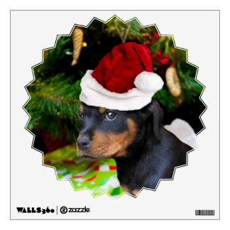 Christmas Rottweiler puppy Room Decals