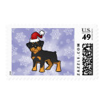 Christmas Rottweiler Stamps