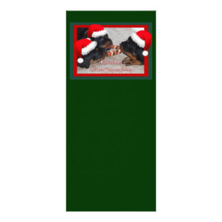 Christmas Rottweilers: A Time of Joyous Giving Custom Rack Cards