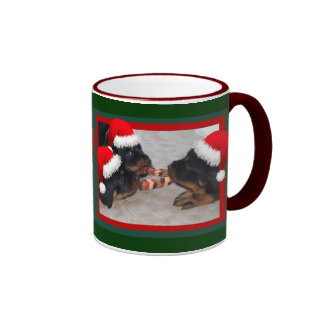 Christmas Rottweilers: A Time of Joyous Giving Ringer Mug