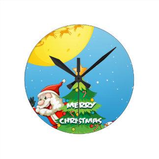 Christmas Round Clock