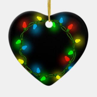 Christmas round lights ceramic ornament