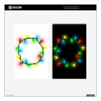 Christmas round lights decals for kindle fire