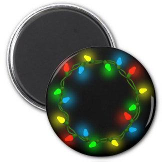 Christmas round lights magnet