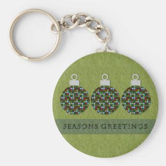 Christmas Round Ornament Keychain