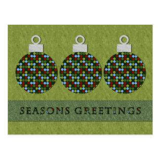 Christmas Round Ornament Postcard