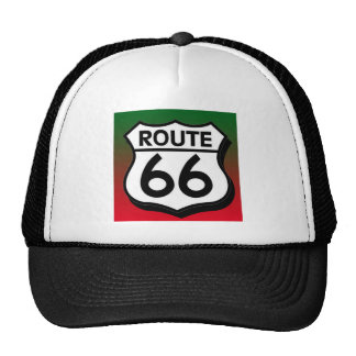 Christmas Route 66 Shield Mesh Hats