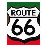 Christmas Route 66 Shield Letterhead Design