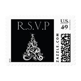 Christmas RSVP Postage Stamp