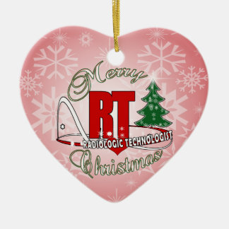 CHRISTMAS RT RADIOLOGIC TECHNOLOGIST CERAMIC ORNAMENT