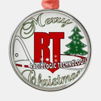 CHRISTMAS RT RADIOLOGIC TECHNOLOGIST METAL ORNAMENT