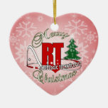 CHRISTMAS RT RADIOLOGIC TECHNOLOGIST Double-Sided HEART CERAMIC CHRISTMAS ORNAMENT