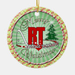 CHRISTMAS RT RADIOLOGIC TECHNOLOGIST Double-Sided CERAMIC ROUND CHRISTMAS ORNAMENT
