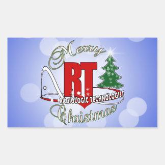 CHRISTMAS RT RADIOLOGIC TECHNOLOGIST RECTANGULAR STICKER