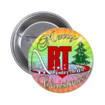 CHRISTMAS RT Respiratory Therapist 2 Inch Round Button