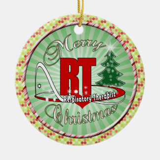 CHRISTMAS RT Respiratory Therapist Ceramic Ornament