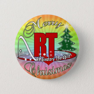 CHRISTMAS RT Respiratory Therapist Pinback Button