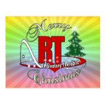 CHRISTMAS RT Respiratory Therapist Postcard