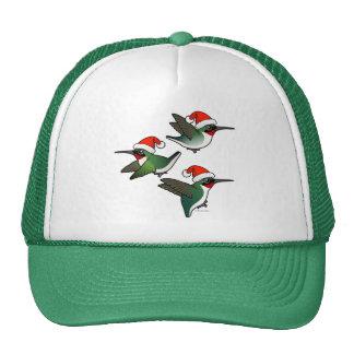 Christmas Ruby-throated Hummingbird Trucker Hat