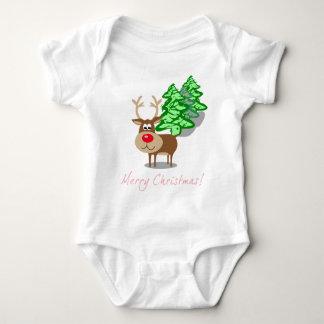 Christmas Rudolph Baby Bodysuit