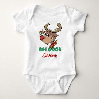 Christmas Rudolph Bee Good Baby Bodysuit