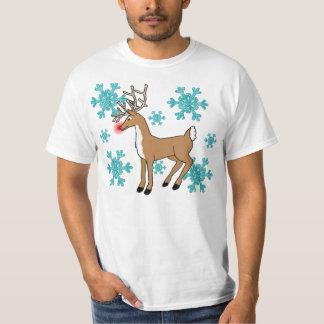 christmas rudolph snowflake tshirt