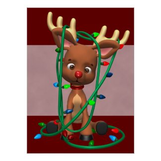 Christmas Rudolph the Red Nosed Reindeer Holiday P Poster