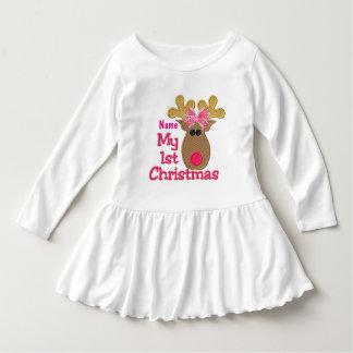 """Christmas"" RUFFLE DRESS"