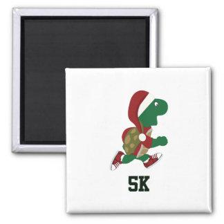 Christmas Running Turtle 5K Magnet