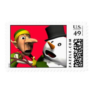 Christmas Rush!! Postage Stamp