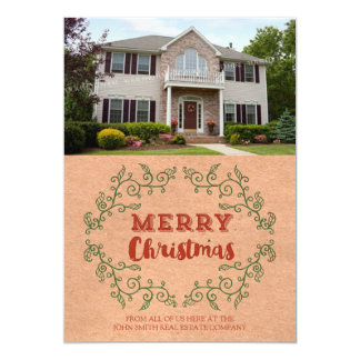 Christmas Rustic Photo Card Real Estate Business